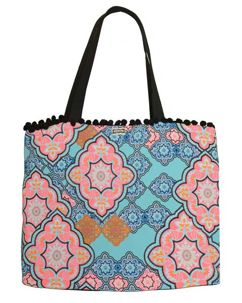 Cabana Tote -  Teal Moroccan