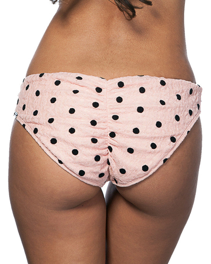Vavoom Hideaway Bikini Bottom Pink with Black Polka Dot