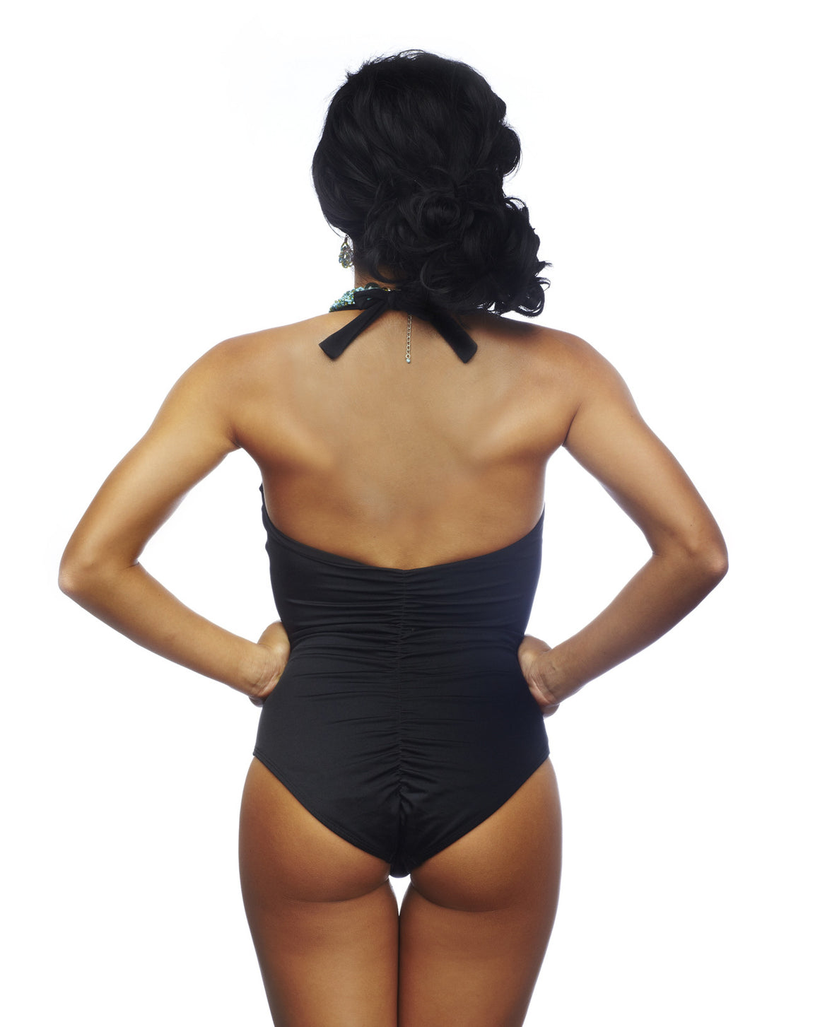 Rumba Ruffles Black One Piece Swimsuit