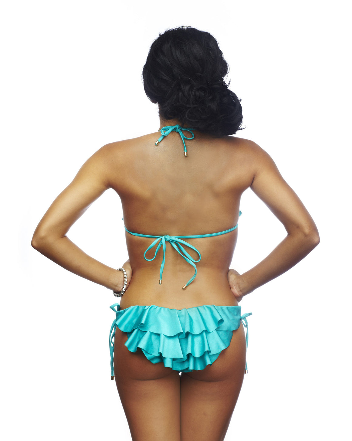 Rumba Ruffles Blue Triangle Top Bikini
