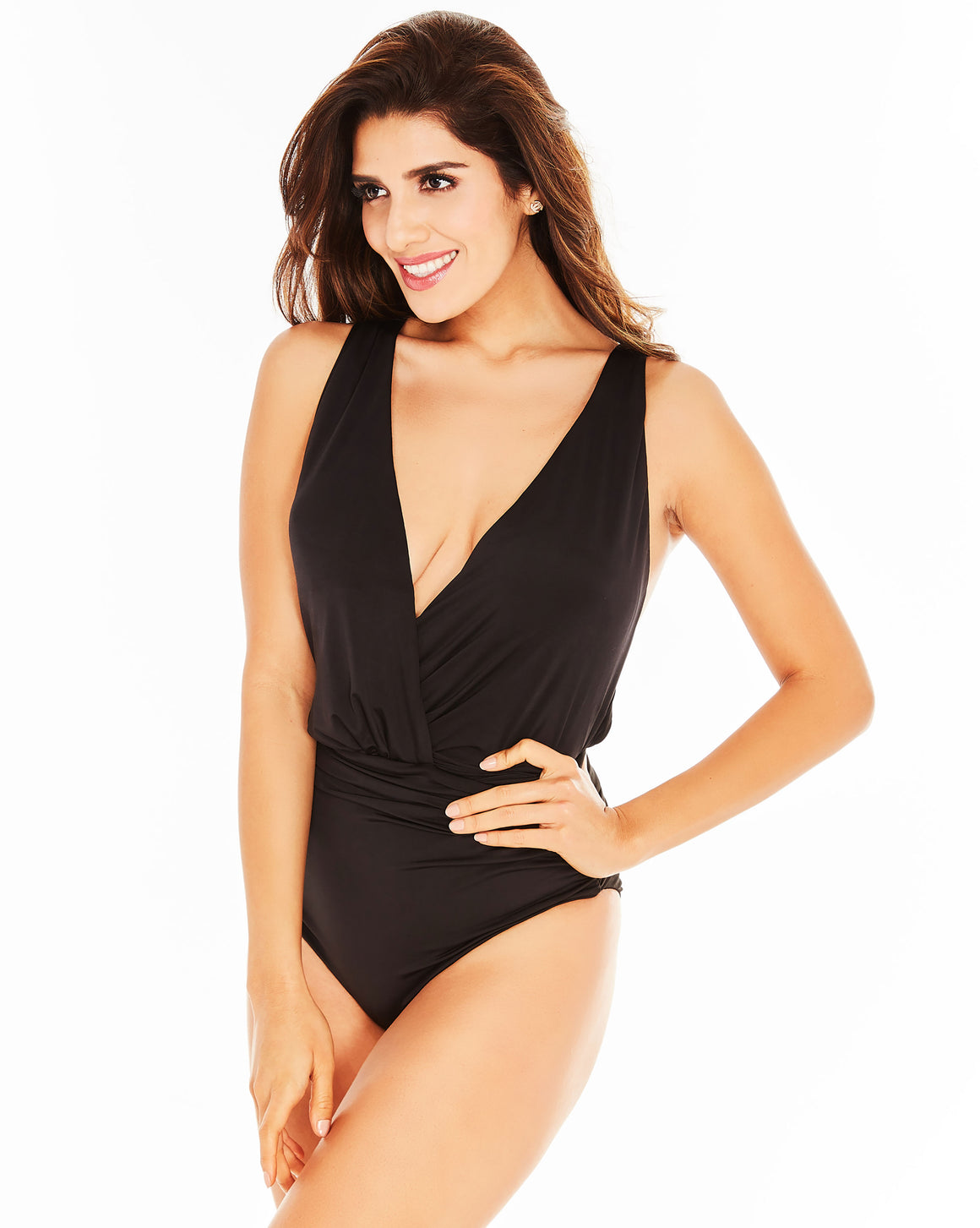 Olivia One Piece Black Sexy Swimwear Bikini Flattering One piece