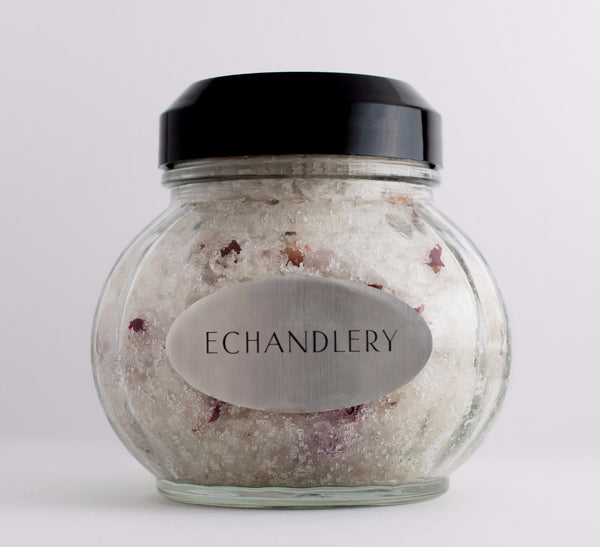 ROSE PRIVÉ DRY EXFOLIANT BATH SALT - ECHANDLERY