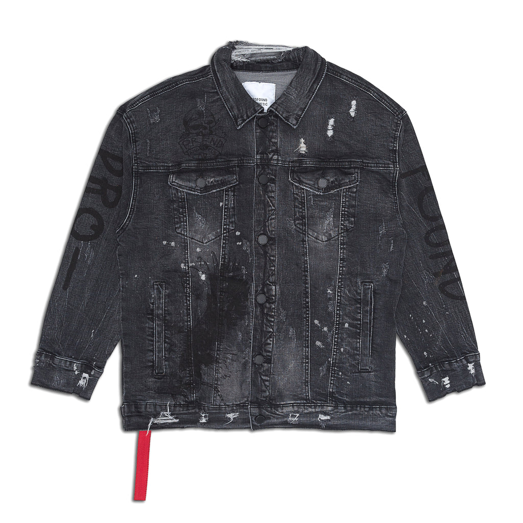Profound Aesthetic - Destroyed Painted Denim Jacket