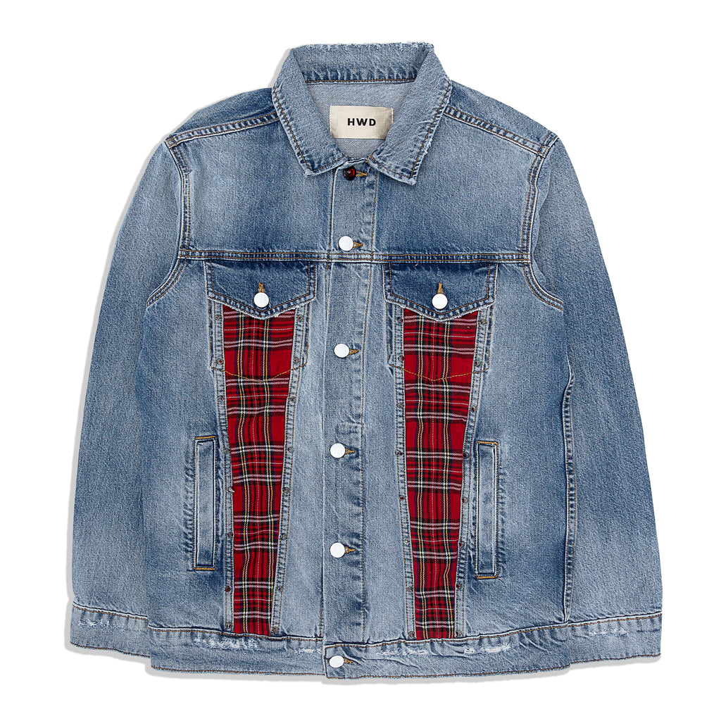 HALFWAY DEAD - Destroyed Washed Denim Jacket
