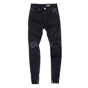 Alive Denim - Stacked Blownout Zip Jeans