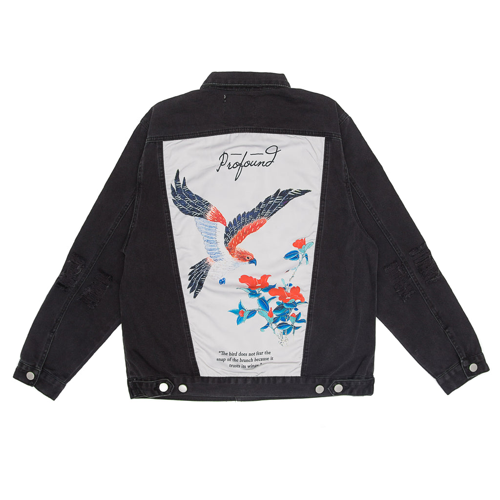 Profound Aesthetic - Bird Back Denim Jacket