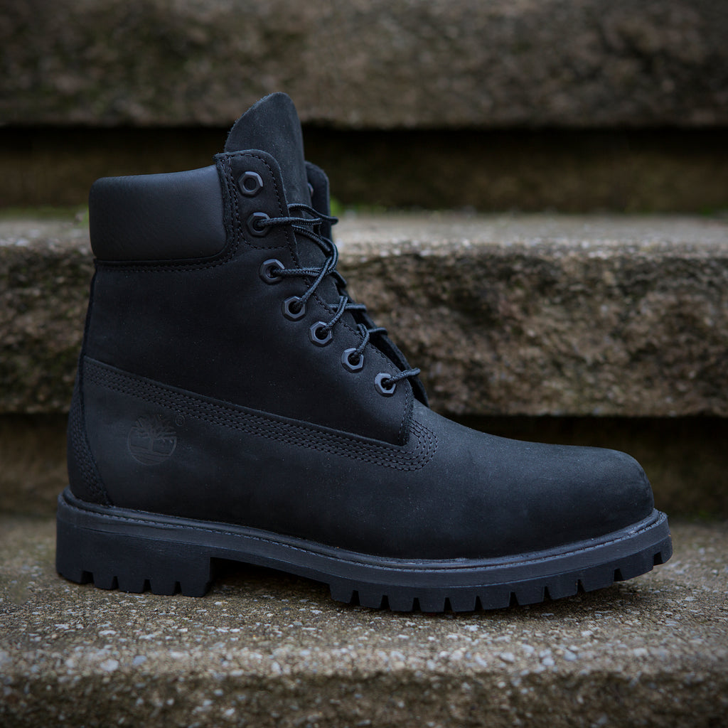 "Timberland 6"" Black Suede Classic Boot"