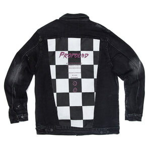 Profound Aesthetic - Misfit Checkered Denim Jacket