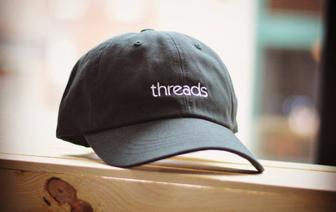 Threads - Logo Black Strapback