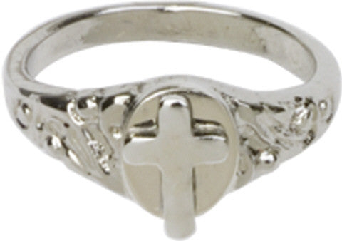 Sterling Cross Ring Children Size