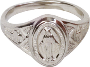 Miraculous Medal Ladies Ring
