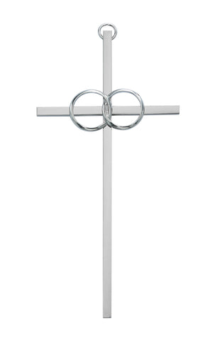 10in. Polished Aluminum Wedding Cross Boxed
