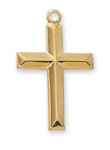 Gold over Sterling Cross Pendant - Cross - Cross