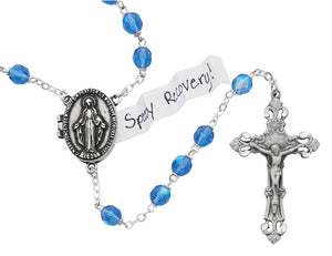 blue-prayer-petition-locket-rosary-boxed-R588DF