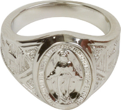 Miraculous Medal Mens Ring