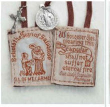 Load image into Gallery viewer, Brown Scapular-Available with or without medals