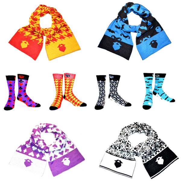 4 Scarves and Socks Collection!