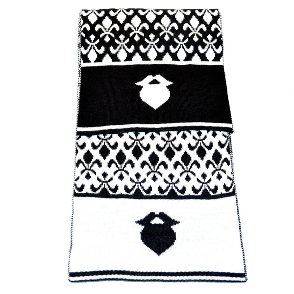 Black and White Fleur De Lis ManScarf