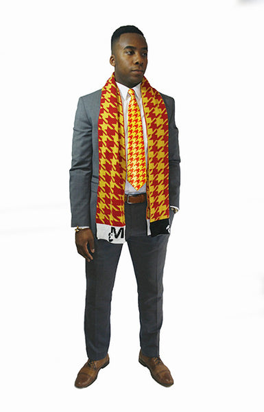 Flashy Houndstooth Scarf