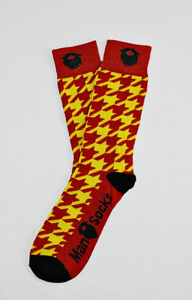 Flashy Houndstooth ManSocks