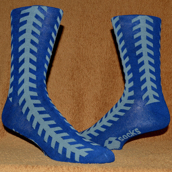 blue chevron sock
