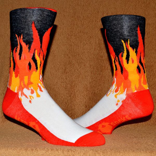 fiery flames sock