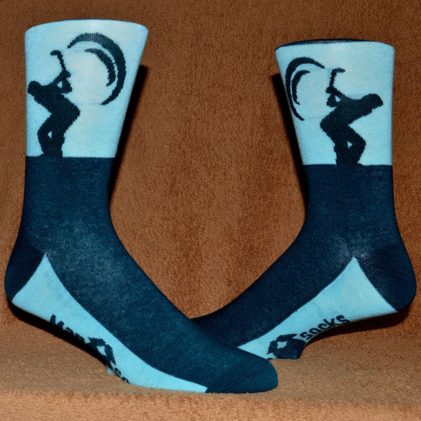 golfers two tone blue sock