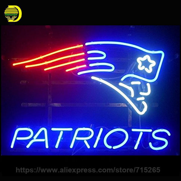 Go PATRIOTS! Neon Wall Sign