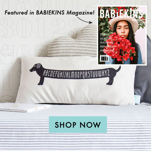 Babiekins Magazine features Dachshund Pillow from Parade and Company