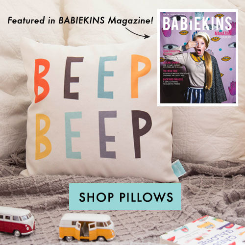 Babiekins Magazine features Vehicle theme cushion from Parade and Company