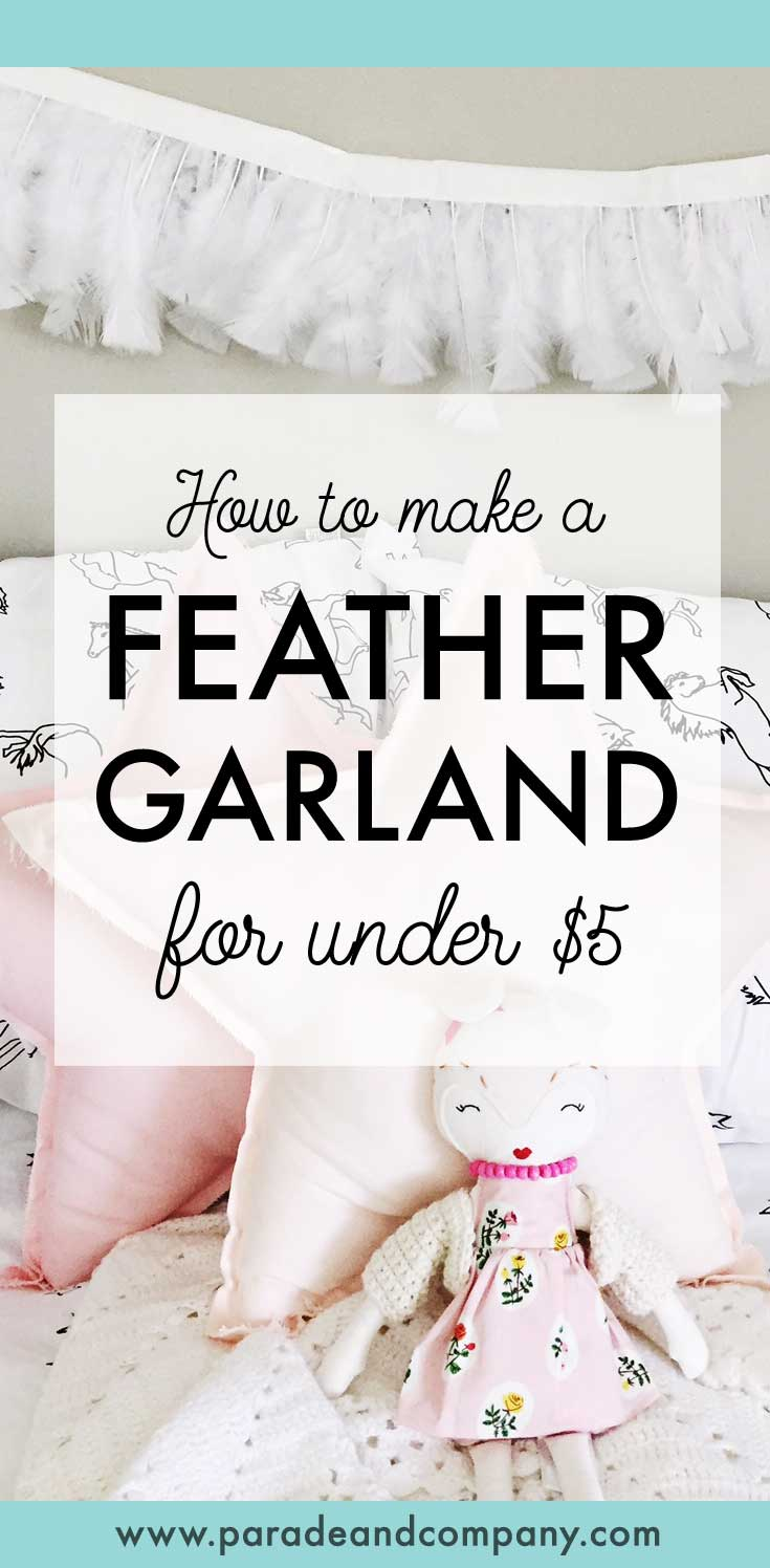 DIY feather garland for less than the price of a latte! Love!