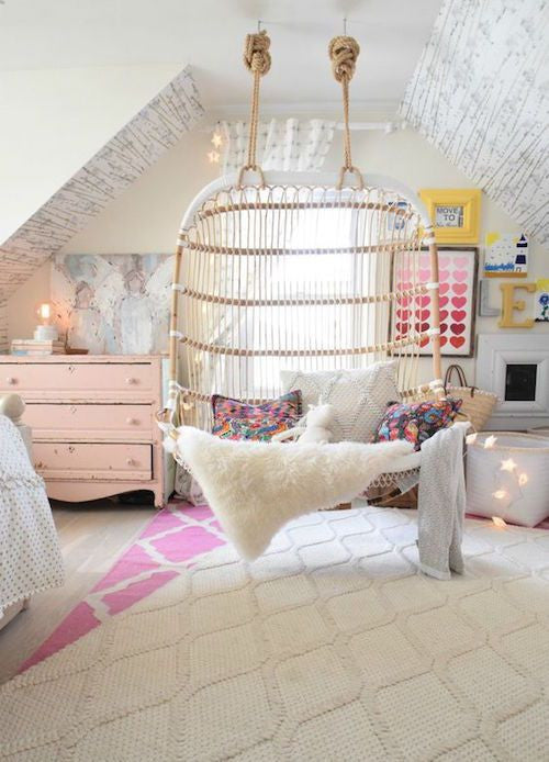 Cosy Reading Swing in Girls Room | Parade and Company Blog
