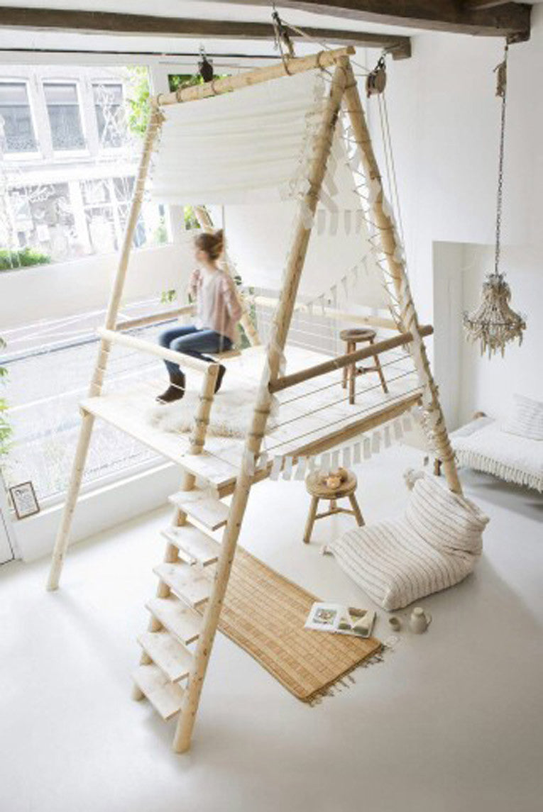 Indoor Treehouse Swing | Parade and Company Blog
