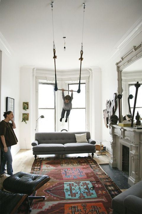 Kids Swing in Living Room | Parade and Company Blog