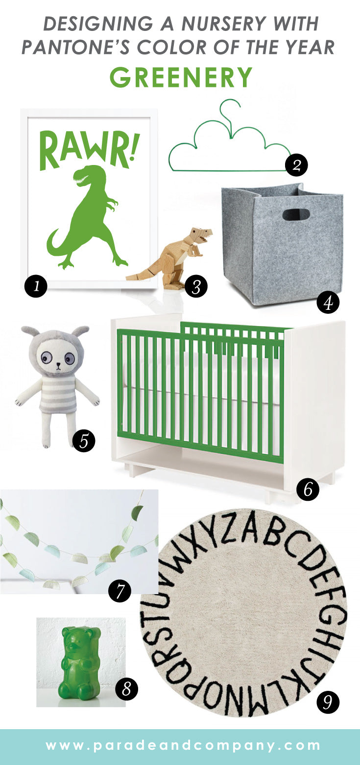 Pantone's 2017 color of the year baby nursery design ideas