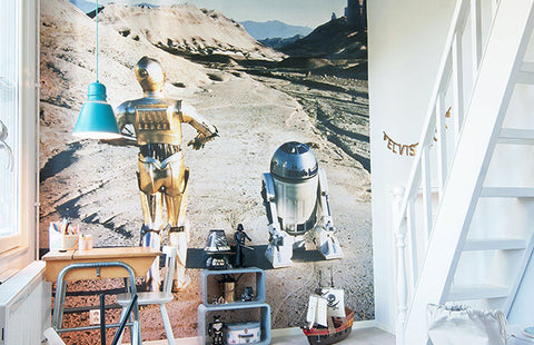 Star Wars mural in kidsroom playroom
