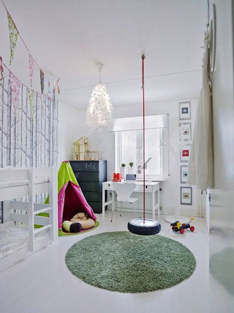 Indoor Tire Swing for Kids | Parade and Company Blog