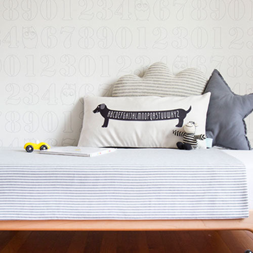 Dachshund pillow for boys room by Parade and Company