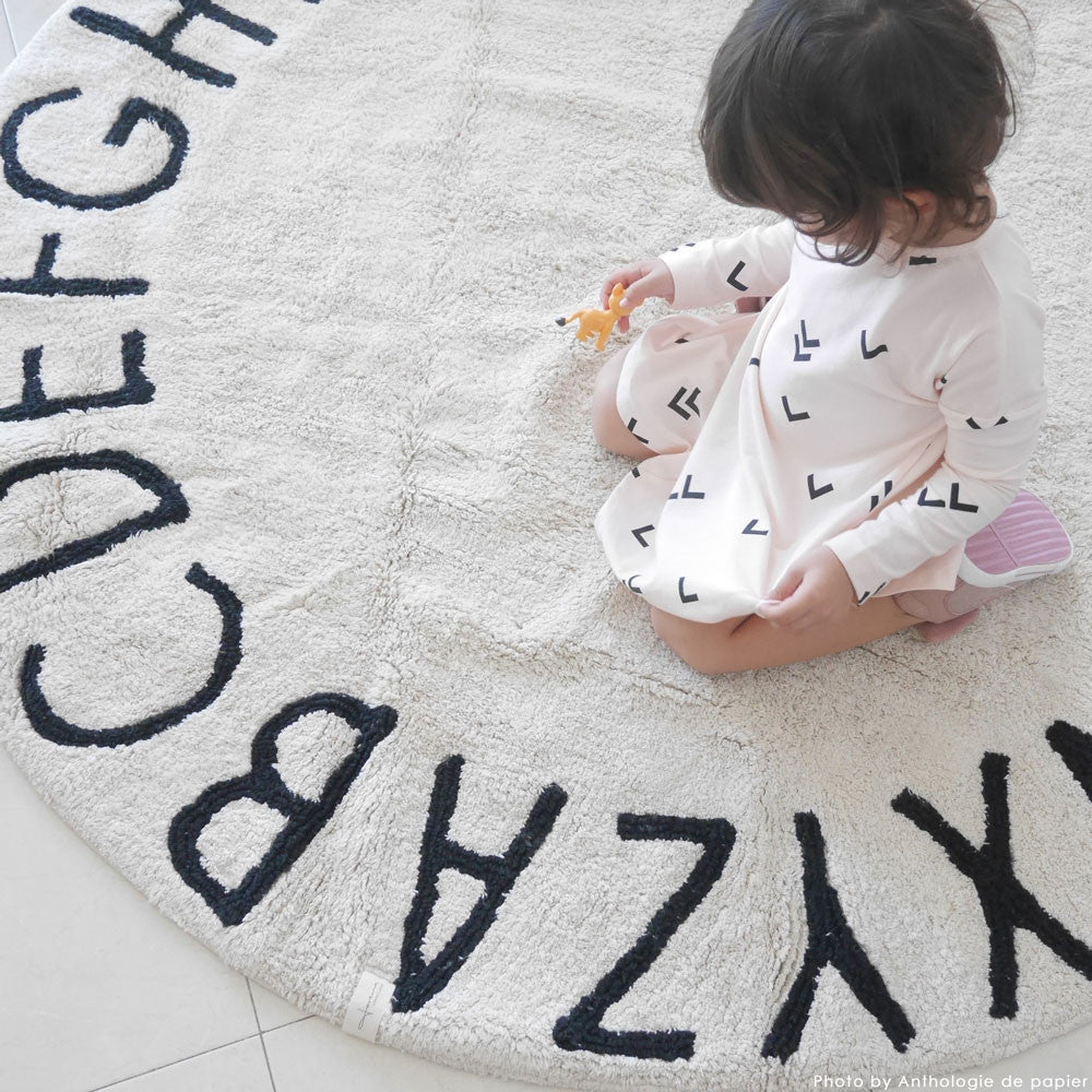 Black And White Alphabet Banner For Children's Room