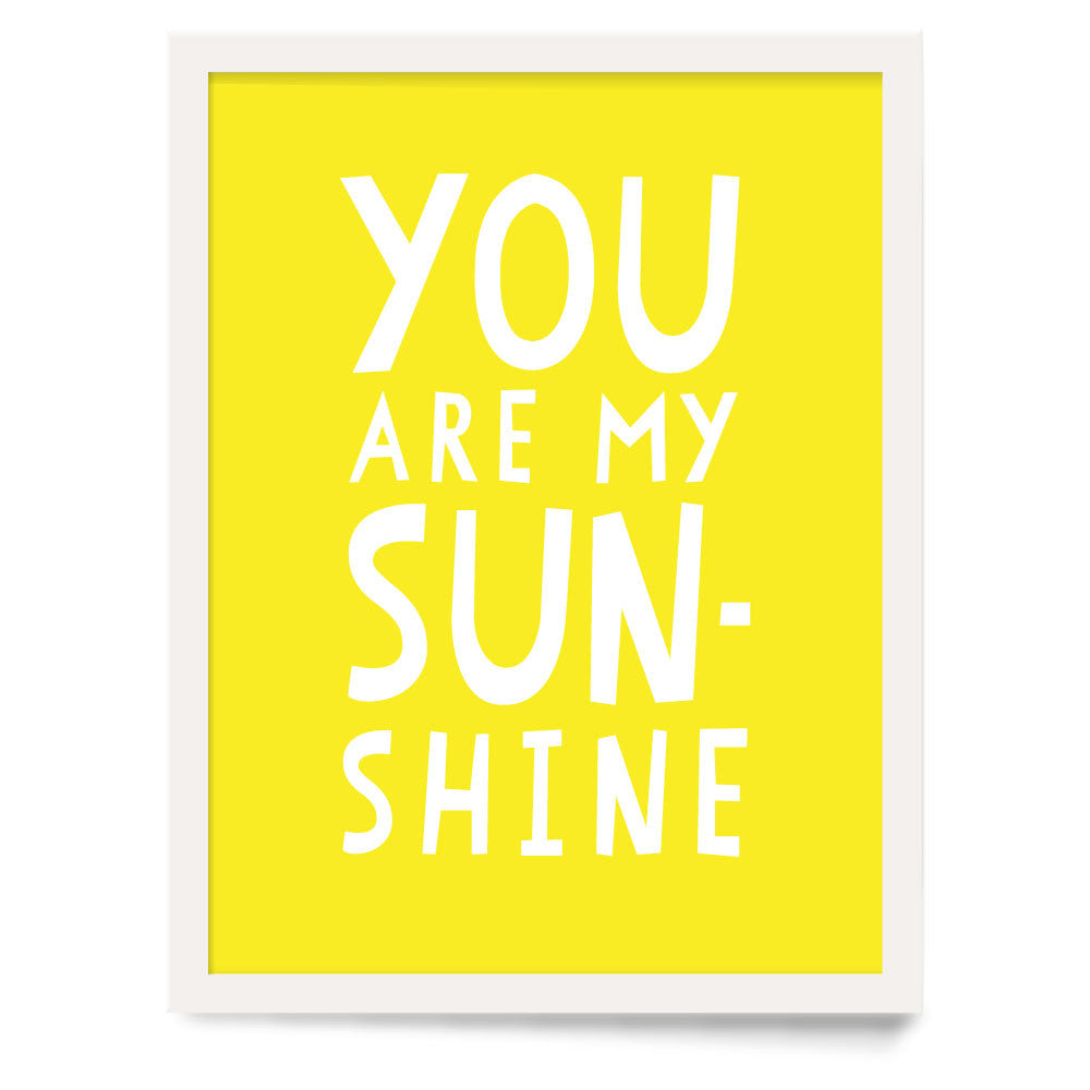 You Are My Sunshine Nursery Art Print | Parade and Company