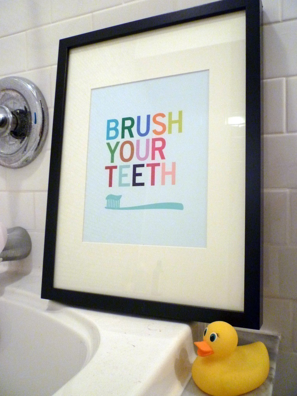 Brush Your Teeth - bathroom wall art print | Parade and Company