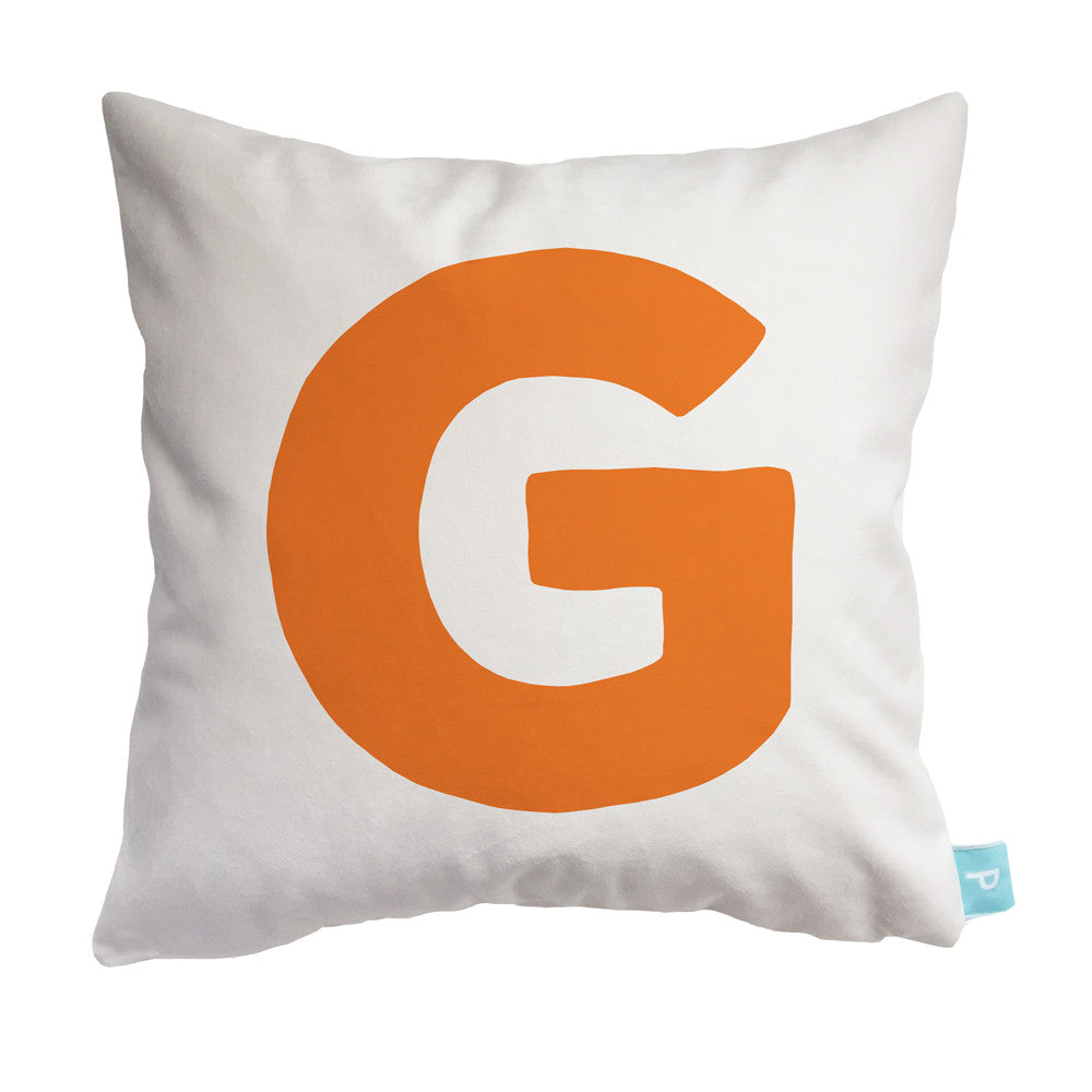 Capital letter G personalized throw pillow