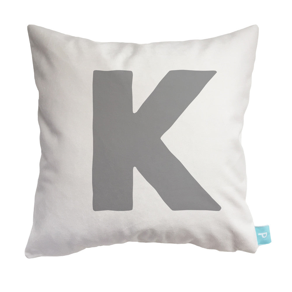 Children's personalized pillowcase letter initial K