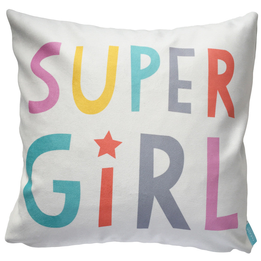 Kids Cushion Super Girl Throw Pillow Parade and Company