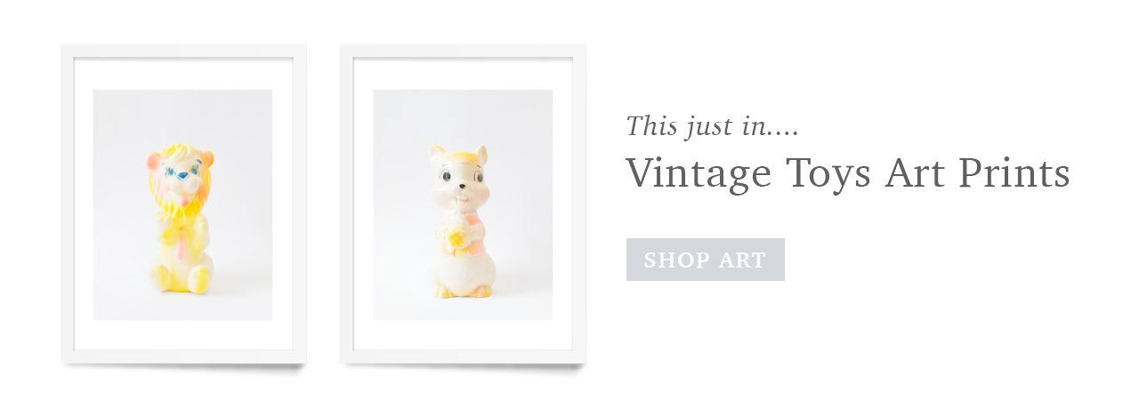 Vintage Toy Art Prints for the Nursery