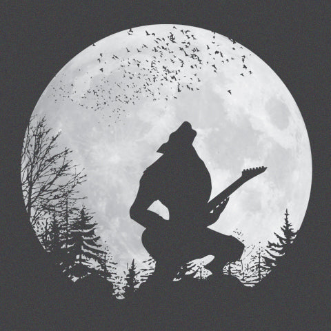 Howling Werewolf Electric Guitar T-Shirt