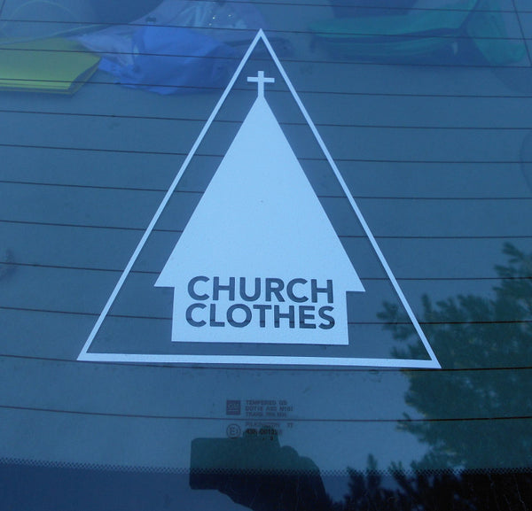 Church Clothes logo window sticker