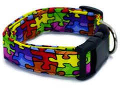 Awesome Autism Awareness Puzzle Piece Dog Collar