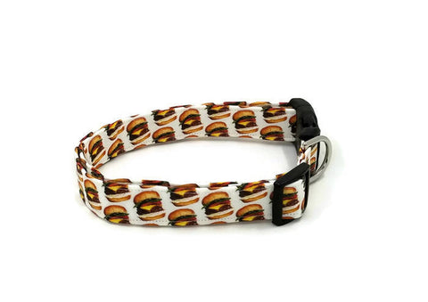 Cheeseburger Fast Food Dog Collar