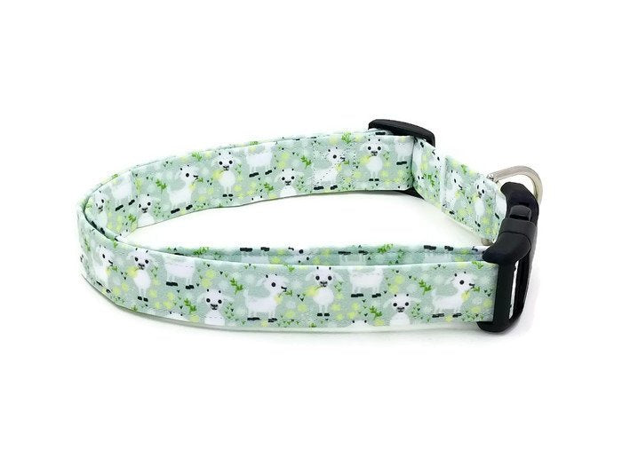 Baby Goats on Green Dog Collar